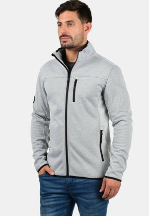 ESHER - veste en sweat zippée - light grey