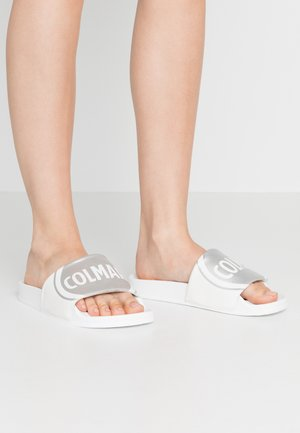 LOGO - Pantofle - white/silver
