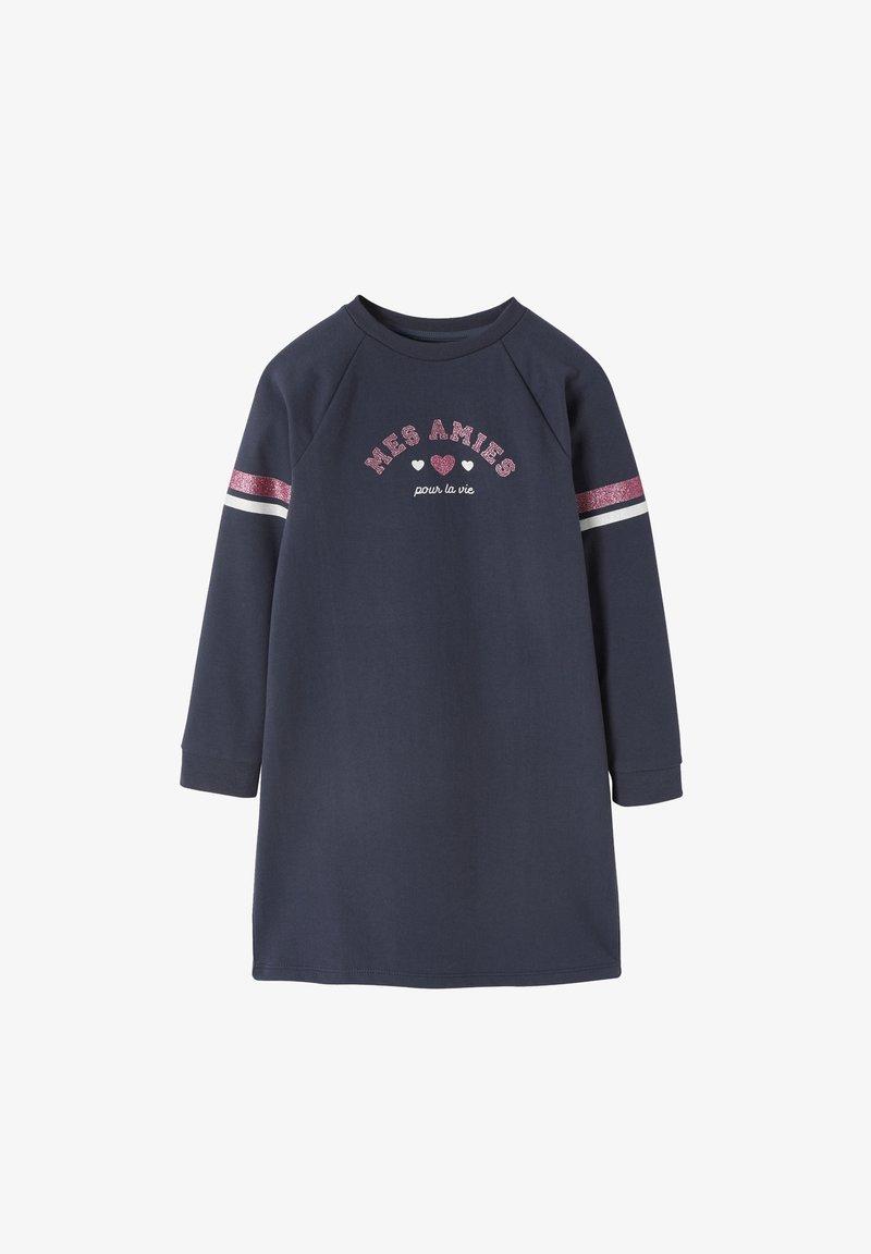 Vertbaudet - MADSCHEN SWEATKLEID - Jersey dress - nachtblau
