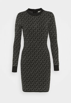 DOT MINI DRESS - Jersey dress - concrete