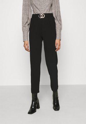 GO SCUBA CREPE BELTED  - Trousers - black