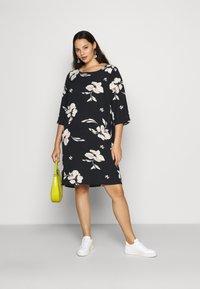 ONLY Carmakoma - CARTINE TUNIC DRESS - Day dress - black - 1