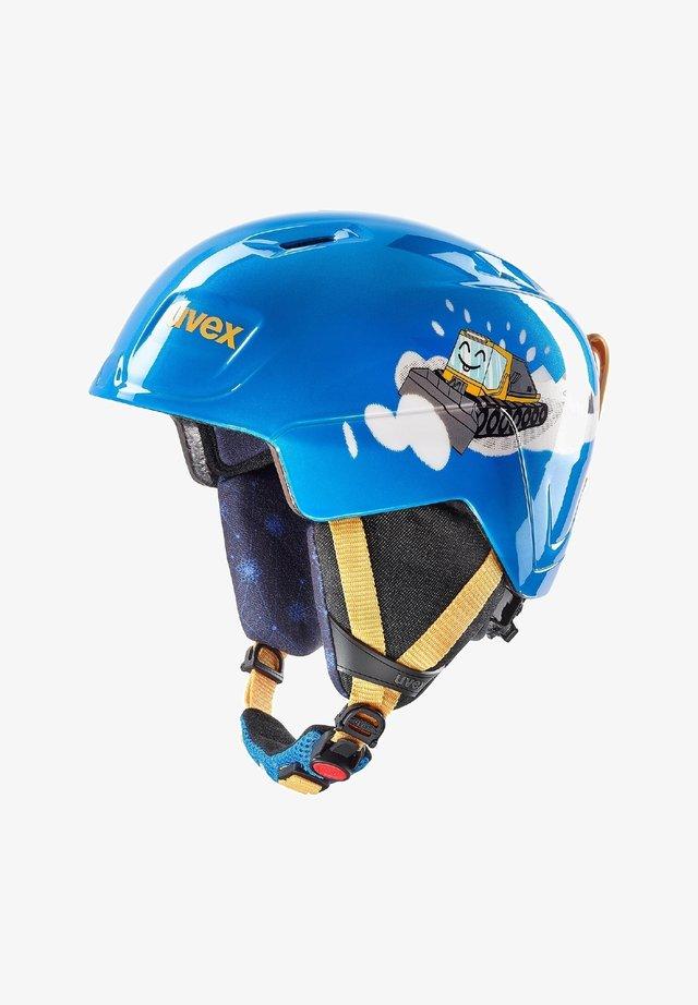 Helmet - blue caterpillar