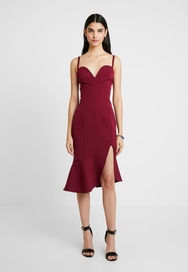 CARMINE MIDI DRESS - Cocktailjurk - carmine