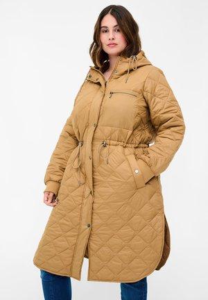 MIT KAPUZE - Winter coat - tobacco brown