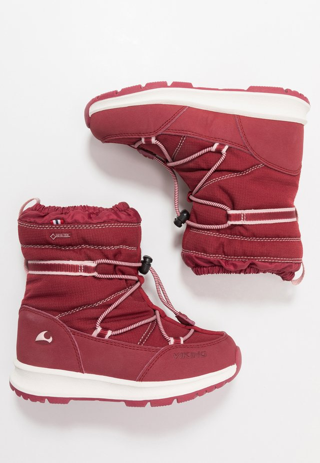 OKSVAL GTX - Winter boots - dark red/red