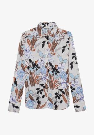 Button-down blouse - weiss/bunt
