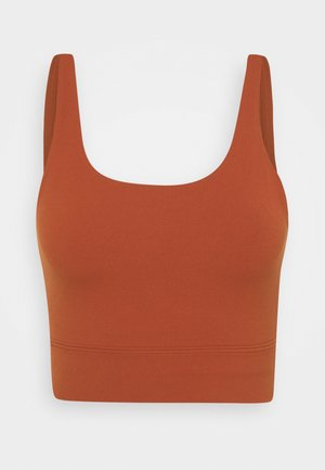 YOGA LUXE CROP TANK - Tekninen urheilupaita - rugged orange/light sienna