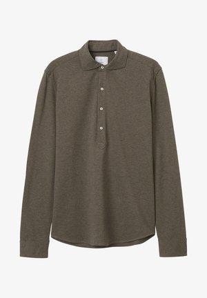 Polo shirt - greige melange
