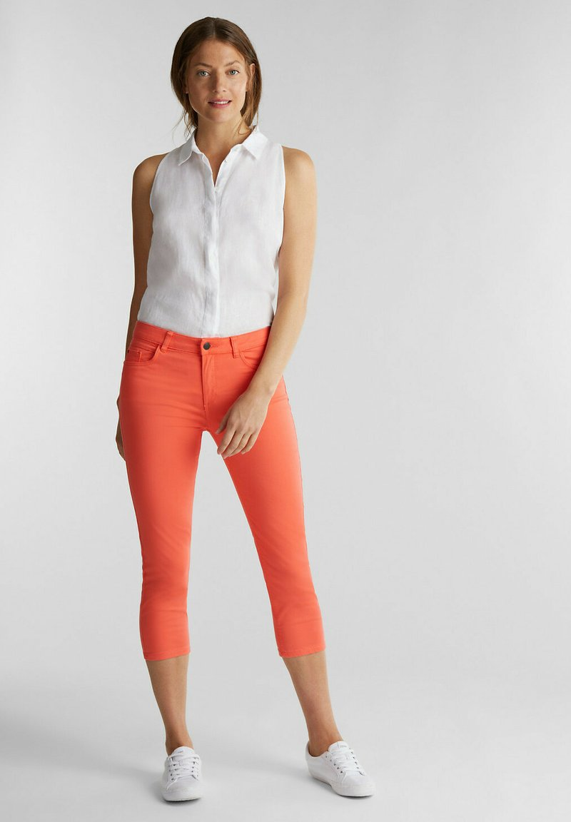 Esprit - CAPRI - Slim fit jeans - coral