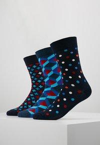 Happy Socks - OPTIC DOT PLUS SOCKS 3 PACK - Socks - black/blue - 0