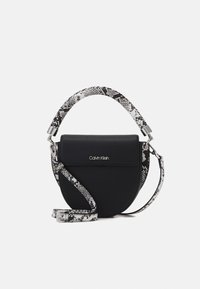 Calvin Klein - SADDLE BAG - Handbag - black - 0