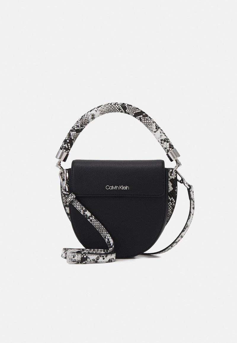 Calvin Klein - SADDLE BAG - Handbag - black