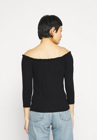 Dorothy Perkins - 2 PACK 3/4 SLEEVE BARDOT - Long sleeved top - black - 2