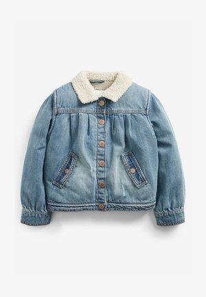 BORG COLLAR  - Denim jacket - blue denim