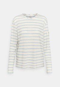 Ecoalf - STRIPE LONG SLEEVE  - Long sleeved top - dark lavander - 0