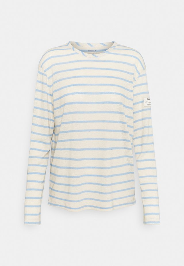 STRIPE LONG SLEEVE  - Top s dlouhým rukávem - dark lavander