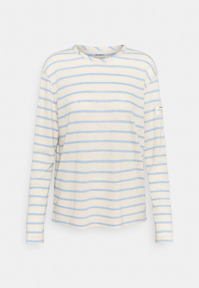 Ecoalf - STRIPE LONG SLEEVE  - Long sleeved top - dark lavander