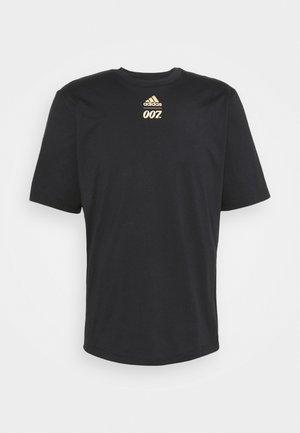 SPORTS SHORT SLEEVE TEE - T-shirt med print - black