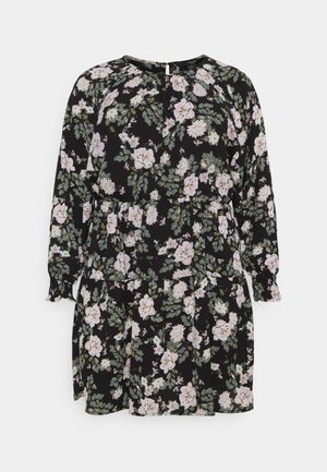 VMSAGA SHORT GATHERING DRESS - Day dress - black