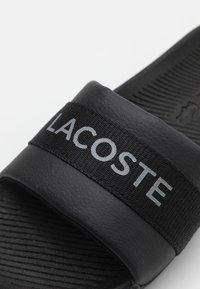 Lacoste - CROCO SLIDE - Mules - black - 5
