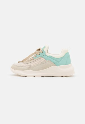 LEATHER - Trainers - grey/mint