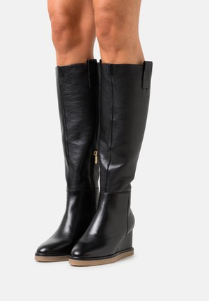 SLOW DOWN - Wedge boots - black