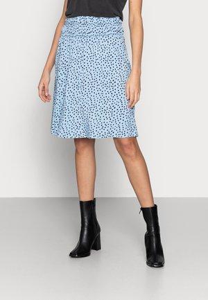 GISLA SKIRT - Spódnica trapezowa - cashmere blue dot
