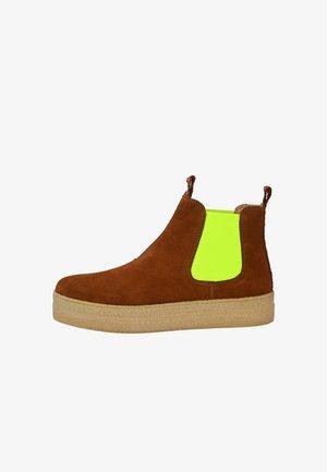 CRICKIT CHELSEA BOOT JANNE CHELSEA BOOT - Ankle boots - cognac neon gelb