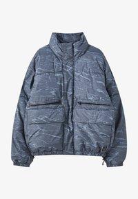 PULL&BEAR - Winter jacket - mottled blue - 4