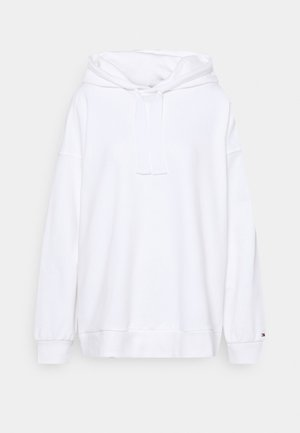 RELAXED VARSITY HOOD - Sweatshirt - white