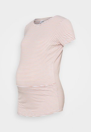 MATERNITY WRAP FRONT SHORT SLEEVE  - Print T-shirt - josie white/summer sand