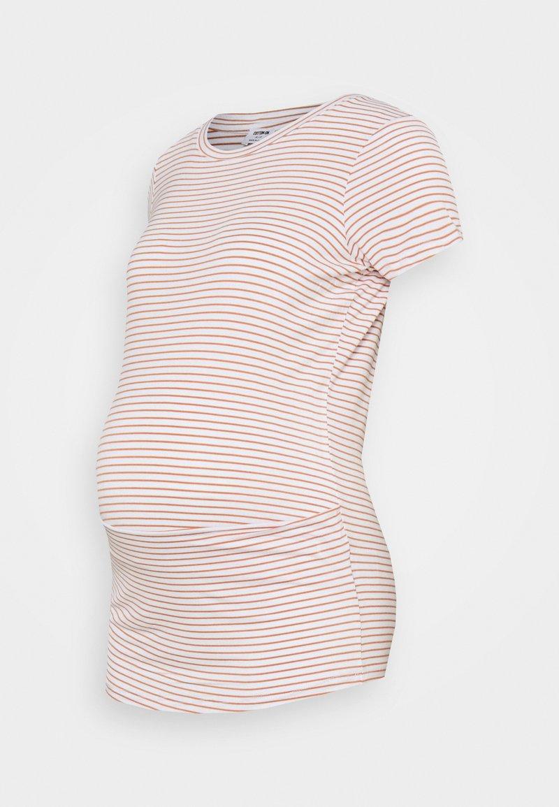 Cotton On - MATERNITY WRAP FRONT SHORT SLEEVE  - Print T-shirt - josie white/summer sand