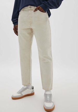Slim fit jeans - mottled beige