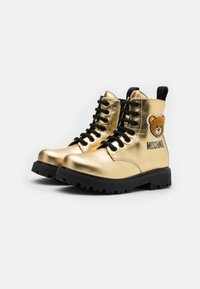 MOSCHINO - Lace-up ankle boots - gold - 1