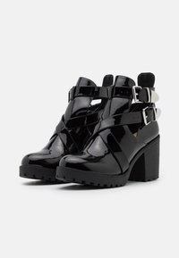 Nly by Nelly - BUCKLE - High heeled ankle boots - black - 2