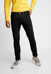 Edwin - SLIM TAPERED - Slim fit jeans - rinsed kaihara black - 0