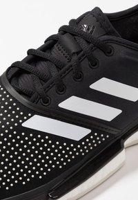 adidas Performance - SOLECOURT BOOST CLAY - Tennisskor för grus - clear black/footwear white/raw white - 5