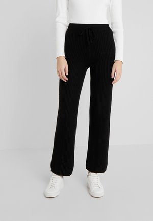 LONG PANTS - Trousers - black