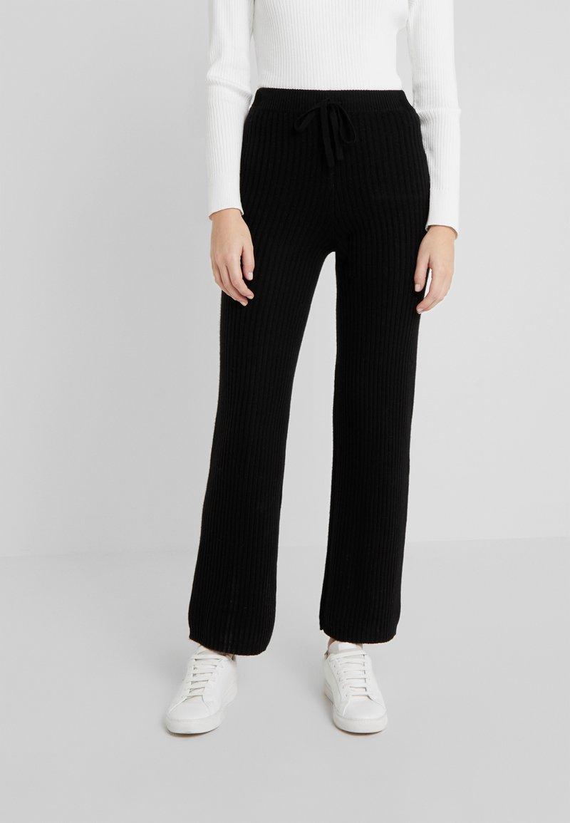 pure cashmere - LONG PANTS - Trousers - black