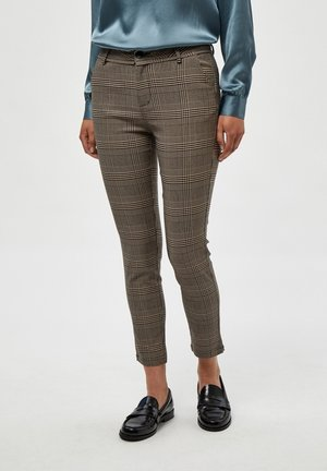 NEW CARMA CHECK - Broek - rustic brown checked