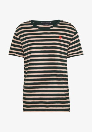 EASY STRIPE TEE WITH CHEST EMBROIDERY - T-shirts med print - combo