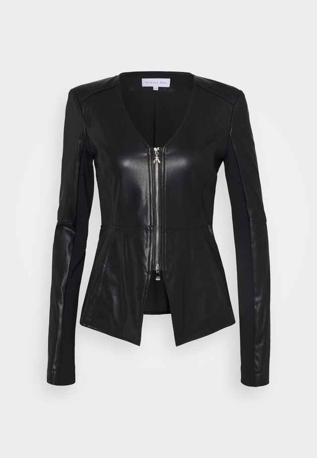 JACKET - Leather jacket - nero