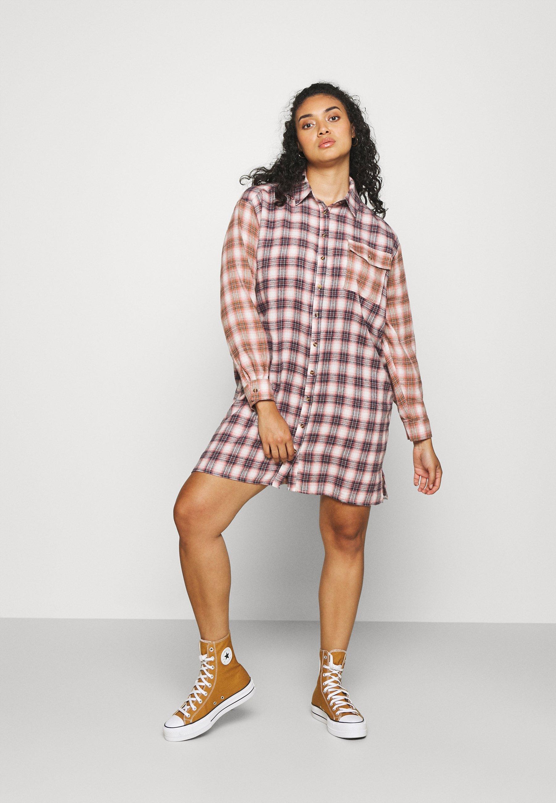 Donna CHECK SHIRT DRESS - Abito a camicia
