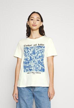 TEE - T-shirt z nadrukiem - offwhite