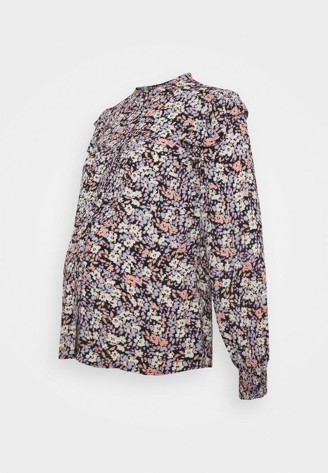 PCMJANA - Button-down blouse - black/rose/blue