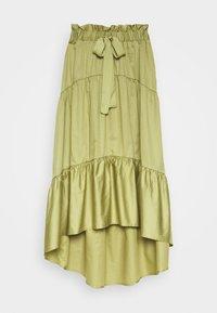 Who What Wear - TIERED TIE WAIST SKIRT - Jupe trapèze - cedar - 3