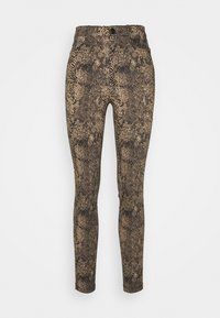 Vero Moda - VMAUGUSTA SNAKE PANTS - Trousers - nude - 0