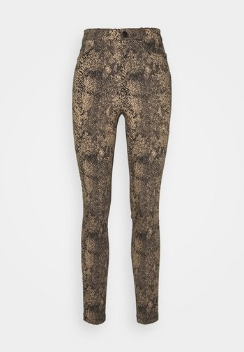 VMAUGUSTA SNAKE PANTS - Trousers - nude