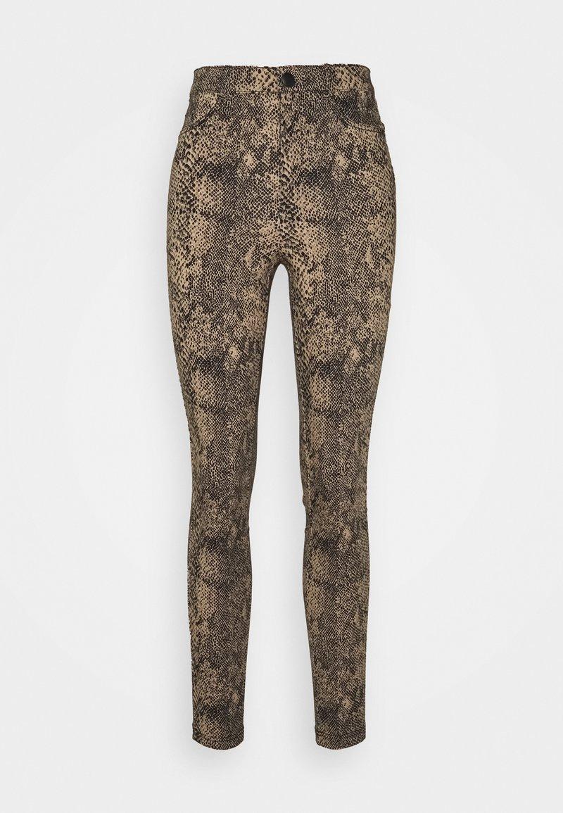 Vero Moda - VMAUGUSTA SNAKE PANTS - Trousers - nude